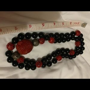 Vintage huge Chunck of  black beads 🌹😘